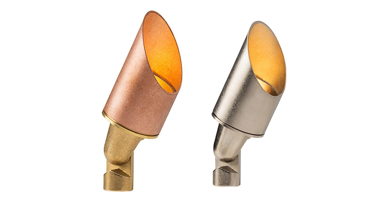 Baylites - outdoor landscape lighting - copper uplights